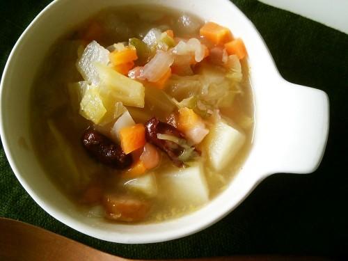【昆布屋レシピ】昆布だしで野菜スープ